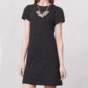 Anthropologie Maeve Dress Polka Dot Shift Black S